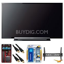 "KDL-32R400A 32"" R400A Series LED HDTV Wall Mount Bundle"