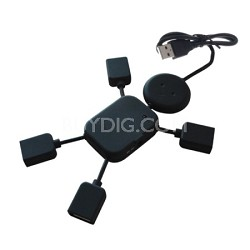 4-Port Man Shaped USB Hub in Black