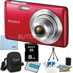 Cyber-shot DSC-W620 Red 8GB Digital Camera Bundle