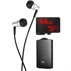 RE-400 In-Ear Headphones w/ FiiO A3 Amplifier + Lexar 64GB Memory Card Bundle