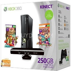 Xbox 360 Console - 250GB Holiday Kinect  Bundle