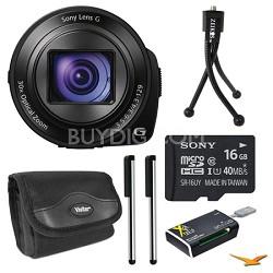 DSC-QX30/B Lens Style Camera 16GB Bundle