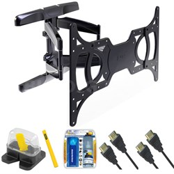 "Large Full Motion TV Mount & Set Up Kit for 37""-65"" TVs up to 100LB - TLX-220FM"