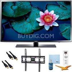 """50"""" HD 1080p Smart TV Clear Motion Rate 120 Mount & Hook-Up Bundle - UN50H5203"""