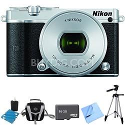 1 J5 Digital Camera w/ NIKKOR 10-30mm f/3.5-5.6 PD Zoom Lens Silver Bundle