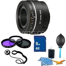 SAL50F18 - 50mm f/1.8 SAM DT Lens for Sony Alpha DSLR's Essentials Kit