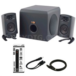 ProMedia 2.1 THX Certified Computer Speaker System Blck w/Acccessory Kit