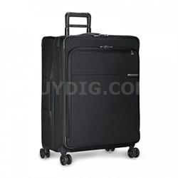 """Baseline Collection 28"""" Large Expandable Luggage Spinner (Black) U128CXSP-4"""