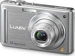 """DMC-FS25S LUMIX 12.1 MP Compact Digital Camera w/ 3.0"""" Intelligent LCD (Silver)"""