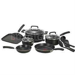 12-Piece Signature Cookware Set in Black - C111SC74