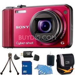 Cyber-shot DSC-H70 Red Digital Camera 8GB Bundle
