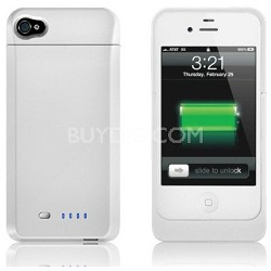 Power DX External Protective Battery Case for iPhone 4S & 4 (Glossy White)