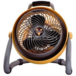 CR1-0089-16 Heavy-Duty Shop Fan, Yellow and Grey