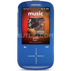 Sansa Fuze+ 4GB Blue MP3 MP4 Video Music Player w/ FM Radio