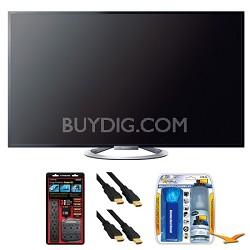 """KDL-55W802A 55"""" W802 Series LED 3D Internet HDTV Surge Protector Bundle"""