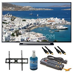 "KDL-50R450A 50"" 1080p Black LED HDTV Wall Mount Bundle"
