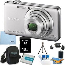 "DSC-WX50 - 16.2MP CMOS Camera 5X Zoom 2.7"" LCD (Silver) 16GB Bundle"