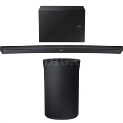 4.1 Channel Curved Wireless Audio Soundbar w/ Radiant 360 R1 Bluetooth Speaker