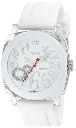 """Crystal 8"" Analog Round Watch White - 40112"