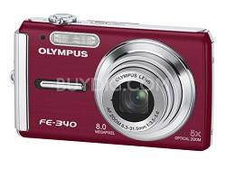 FE-340 8MP Digital Camera (Red)