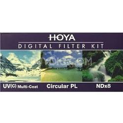 58mm Digital Filter Kit With UV, Circular Polarizer, NDX8