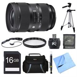 24-35mm F2 DG HSM Standard-Zoom Lens for Sigma 16GB Bundle