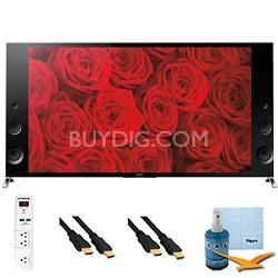 "XBR79X900B - 79"" 120Hz 3D LED Premium 4K Ultra HD TV Plus Hook-Up Bundle"