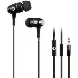 In-Ear Headphones with Mic - Black