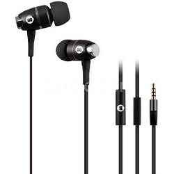 In-Ear Headphones with Mic - Black