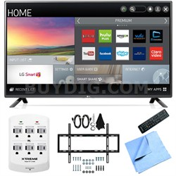 55LF6100 - 55-inch 120Hz Full HD 1080p LED HDTV Slim Flat Wall Mount Bundle