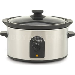 84384 4-Quart Oval-Shaped Crockery Cooker - OPEN BOX
