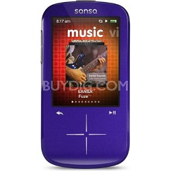 Sansa Fuze+ 8GB Purple MP3 MP4 Video Music Player w/ FM Radio
