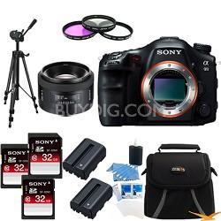 Alpha SLT-A99V 24.3 MP SLR Camera (Black) + SAL 50 f1.4 Full Frame Lens