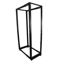 42U Adjustable Depth Open Frame 4 Post Rack Cabinet in Black - 4POSTRACK42