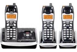 5.8GHz 3 Handset Cordless Phone System with Answering Machine