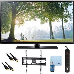 """UN40H6203 - 40"""" HD 1080p Smart TV Clear Motion Rate 240 Mount & Hook-Up Bundle"""