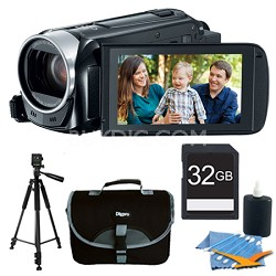 VIXIA HF R40 53x Image Stabilized Opt Zoom Camcorder Full HD CMOS Plus 32GB Kit