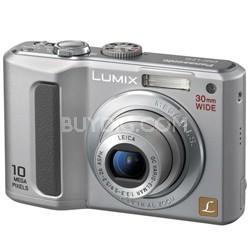 "DMC-LZ10 (Silver) Lumix 10 Megapixel Digital Camera w/5x Optical Zoom & 2.5"" LCD"
