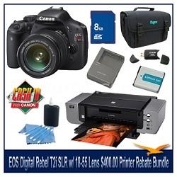 EOS Digital Rebel T2i SLR Camera w/ 18-55 Lens $400.00 Printer Rebate