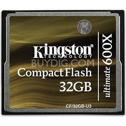32GB Ultimate Compact Flash 600x Memory Card