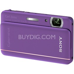 "Cyber-shot DSC-TX66 18.2 MP Exmor R CMOS Camera 5X Zoom 3.3"" OLED (Violet)"