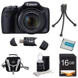 SX520 HS 16MP 42x Opt Zoom 1080p Full HD Digital Premiere Camera Bundle