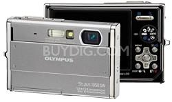 Stylus 1050SW 10MP Shockproof Waterproof Digital Camera (Silver)