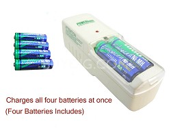 special charger & 4 AA 1800mah Ni-MH batteries