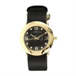 Amy Gold-Tone Stainless Steel Watch - Black - MBM1154