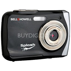 Splash WP7 12MP Waterproof Camera, Anti-Shake (Black) - OPEN BOX