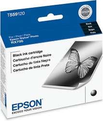 Black Ink Cartridge for Epson Stylus Photo RX700