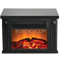 TZRF-10345 Zurich Tabletop Retro Electric Fireplace, Black