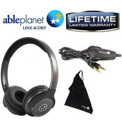 SH190 Travelers Choice Stereo Headphones w/ LINX AUDIO & Inline Volume-Gun Metal