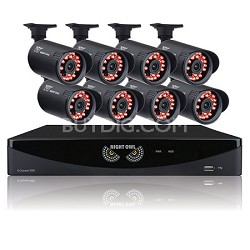 8 Channel Video Security System with 8 x 650 TVL Bullet Cameras
